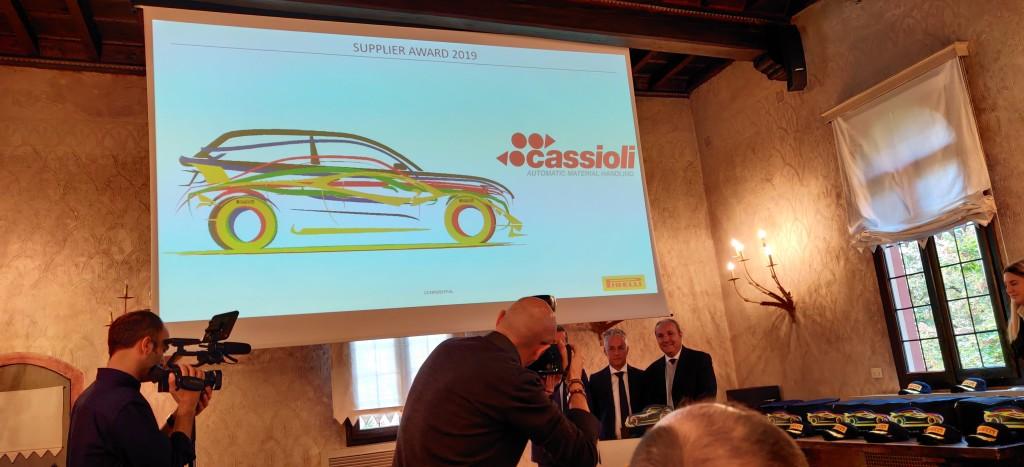 Cassioli Pirelli Supplier Awards 2019